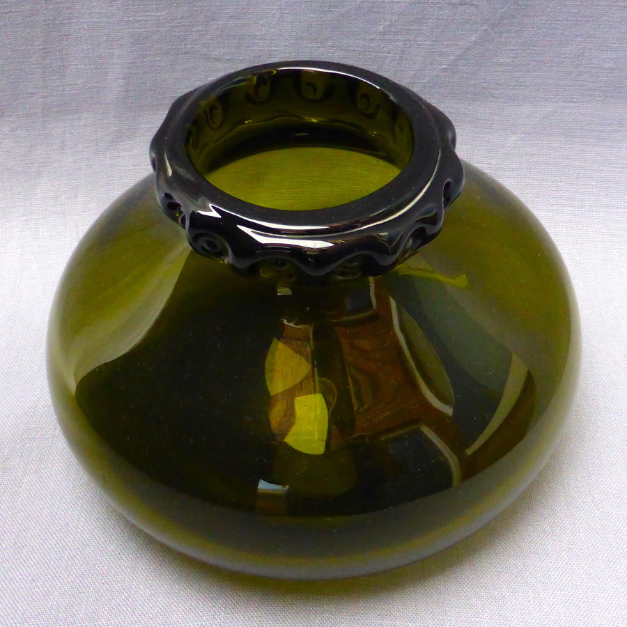 Ekenas Swedish glass vase by John Onwar Lake