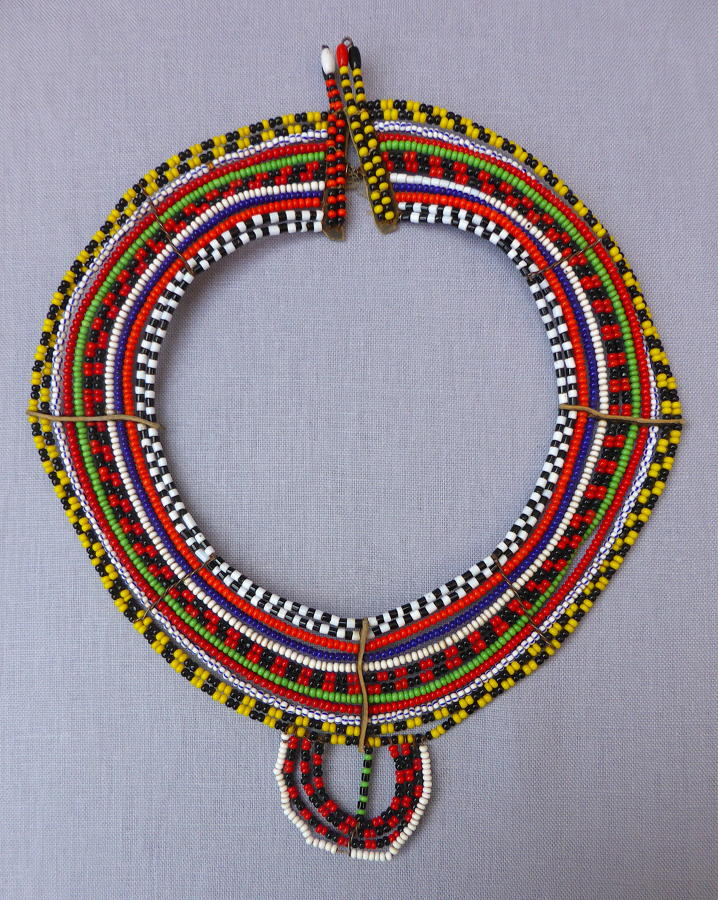 Tanzanian Maasai beaded collar