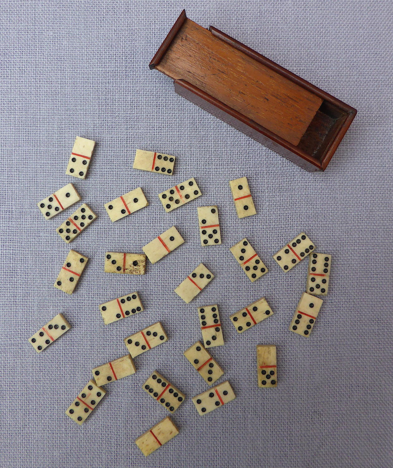 Napoleonic prisoner of war miniature bone domino set
