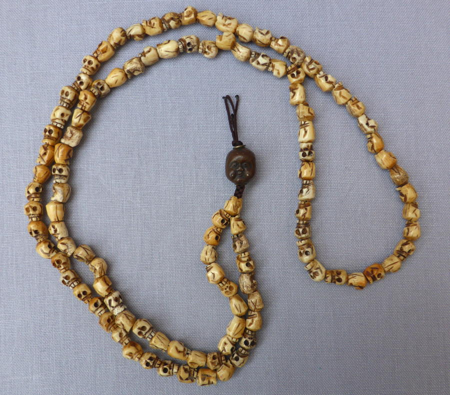 Tibetan Buddhist skull shaped Mala meditation beads