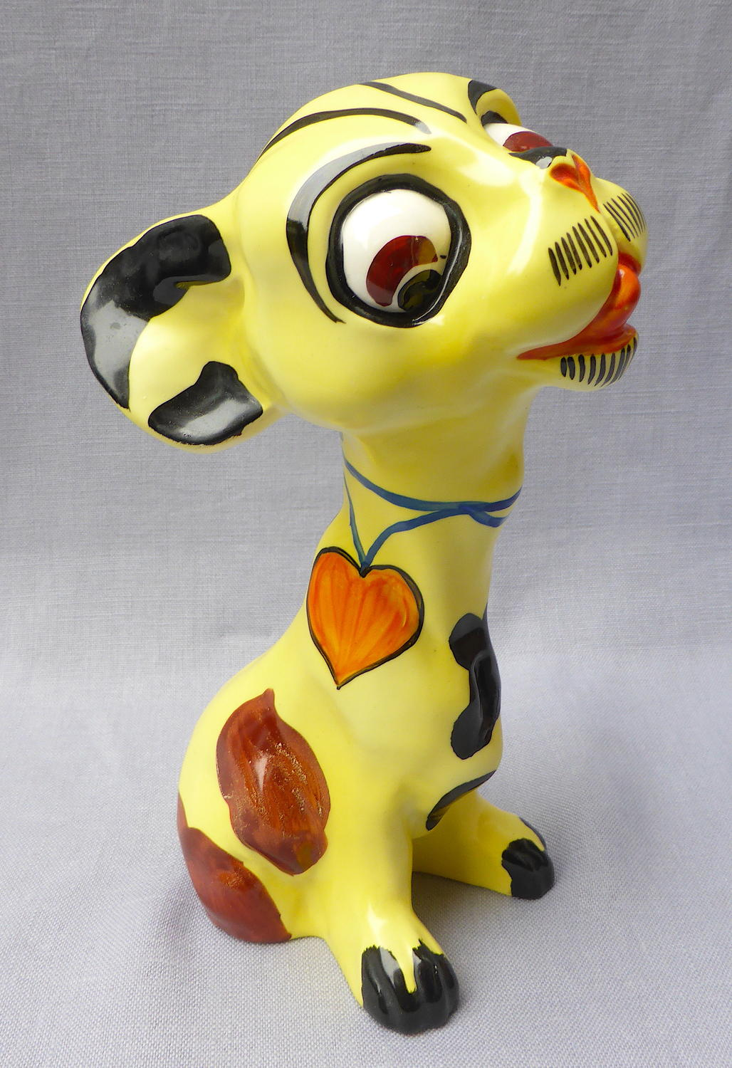 Rare 1930s Art Deco Ditmar Urbach dog figure