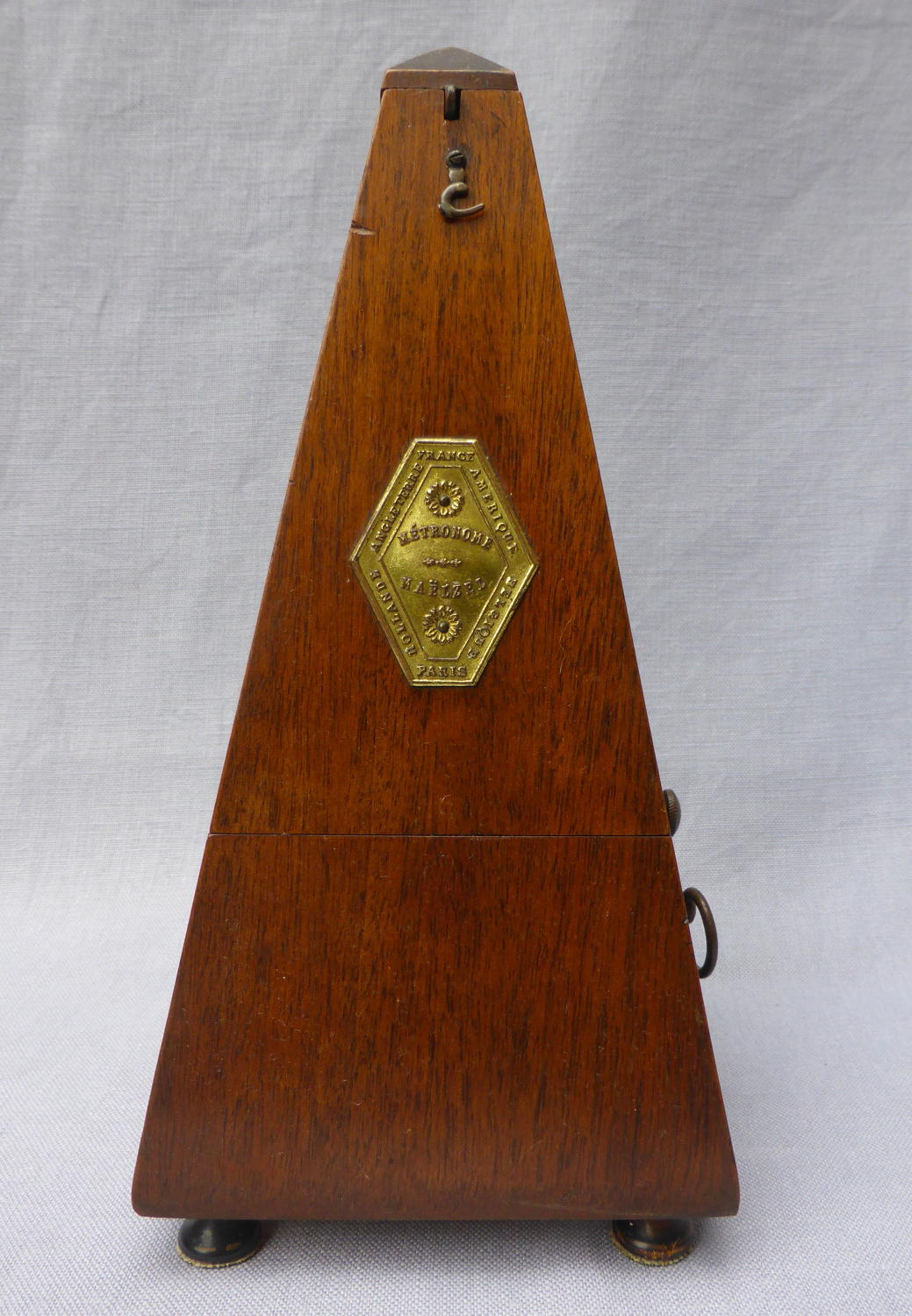 Early 20th century mahogany Maelzel metronome