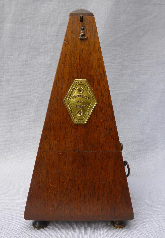 Early 20th century mahogany Maelzel metronome