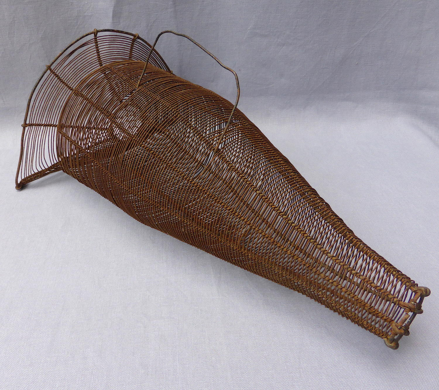 Early 20th century wire basket eel trap