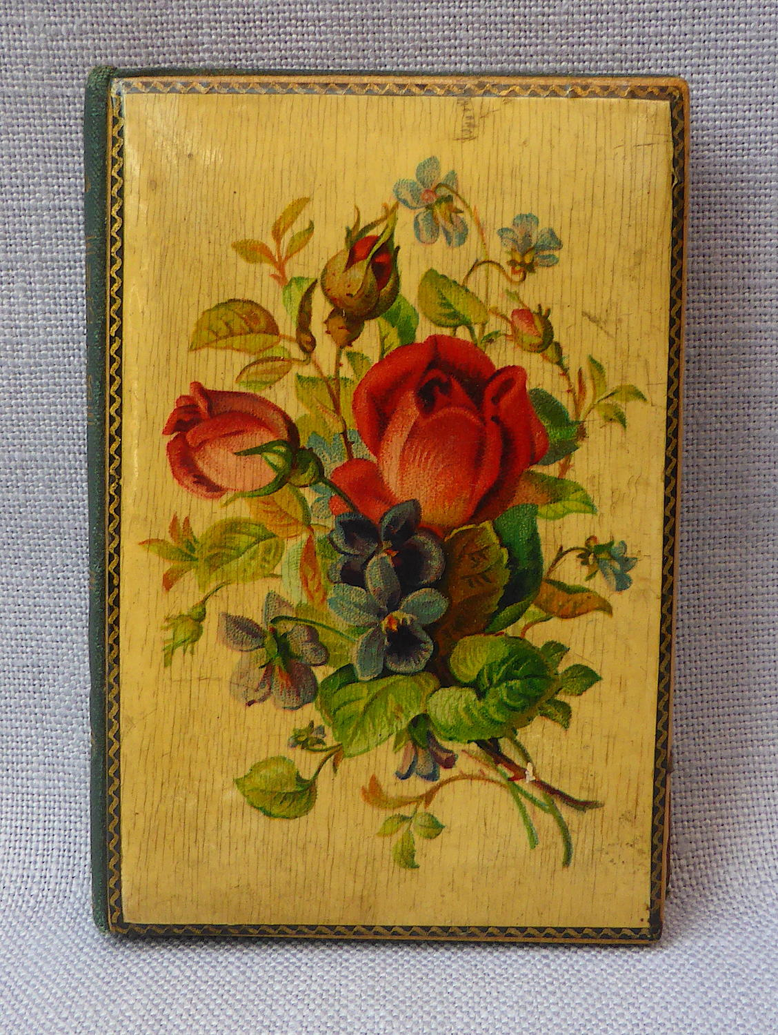 Late 19th century Mauchline ware book by Alice Crowther