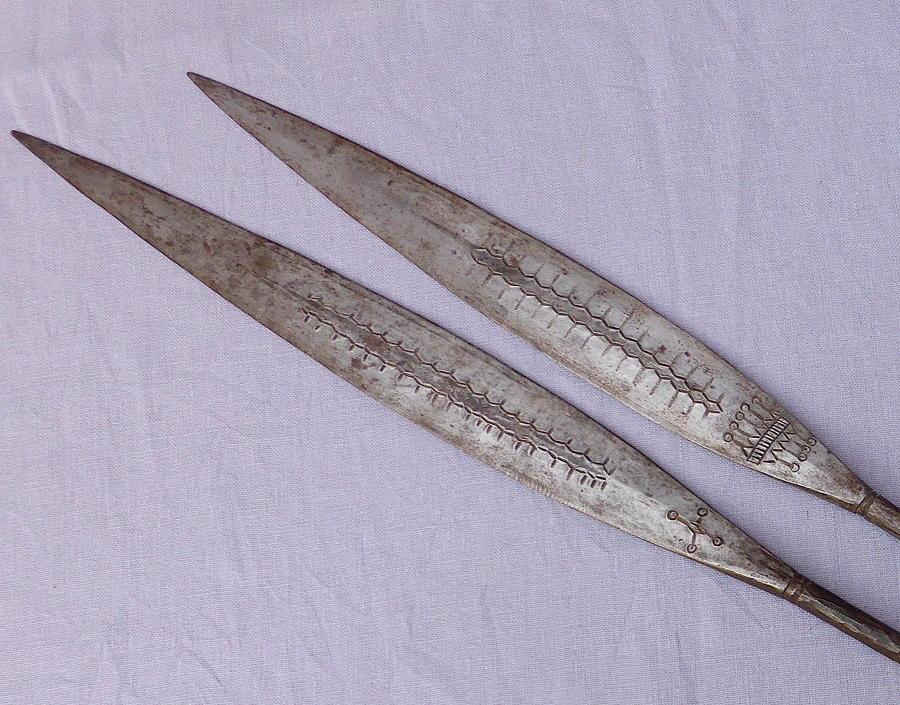 Two 19th century Zulu Assegai spear heads