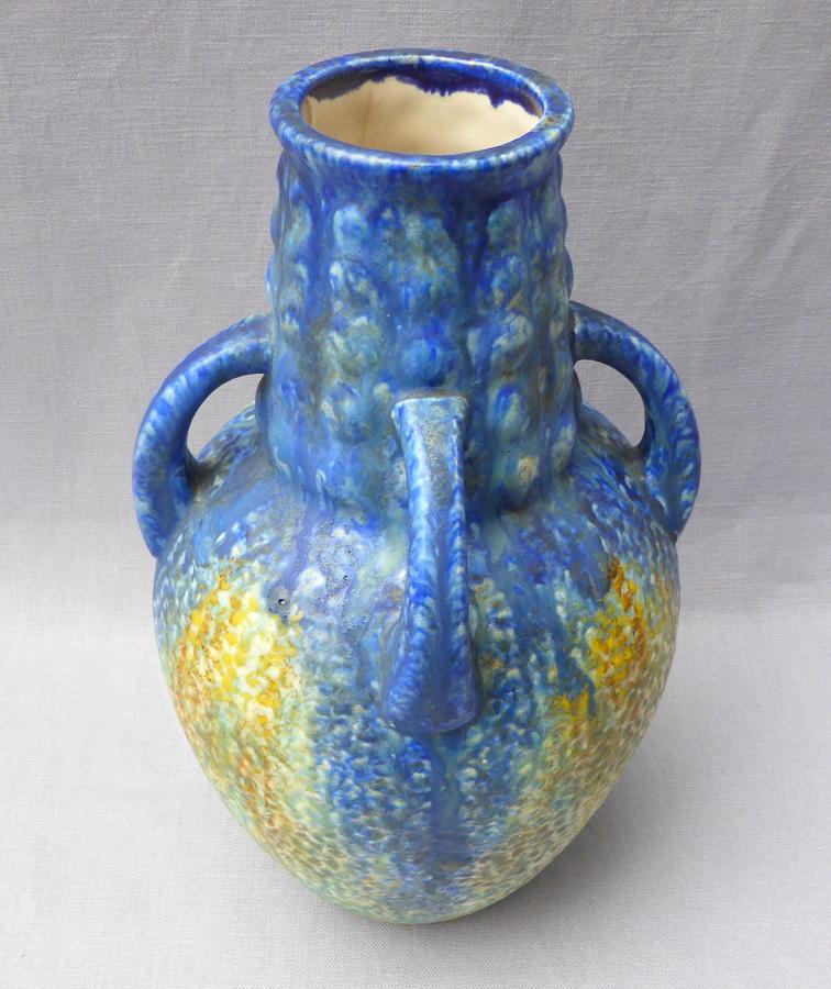 Early 20th century Bretby Art Pottery Nerton Ware vase