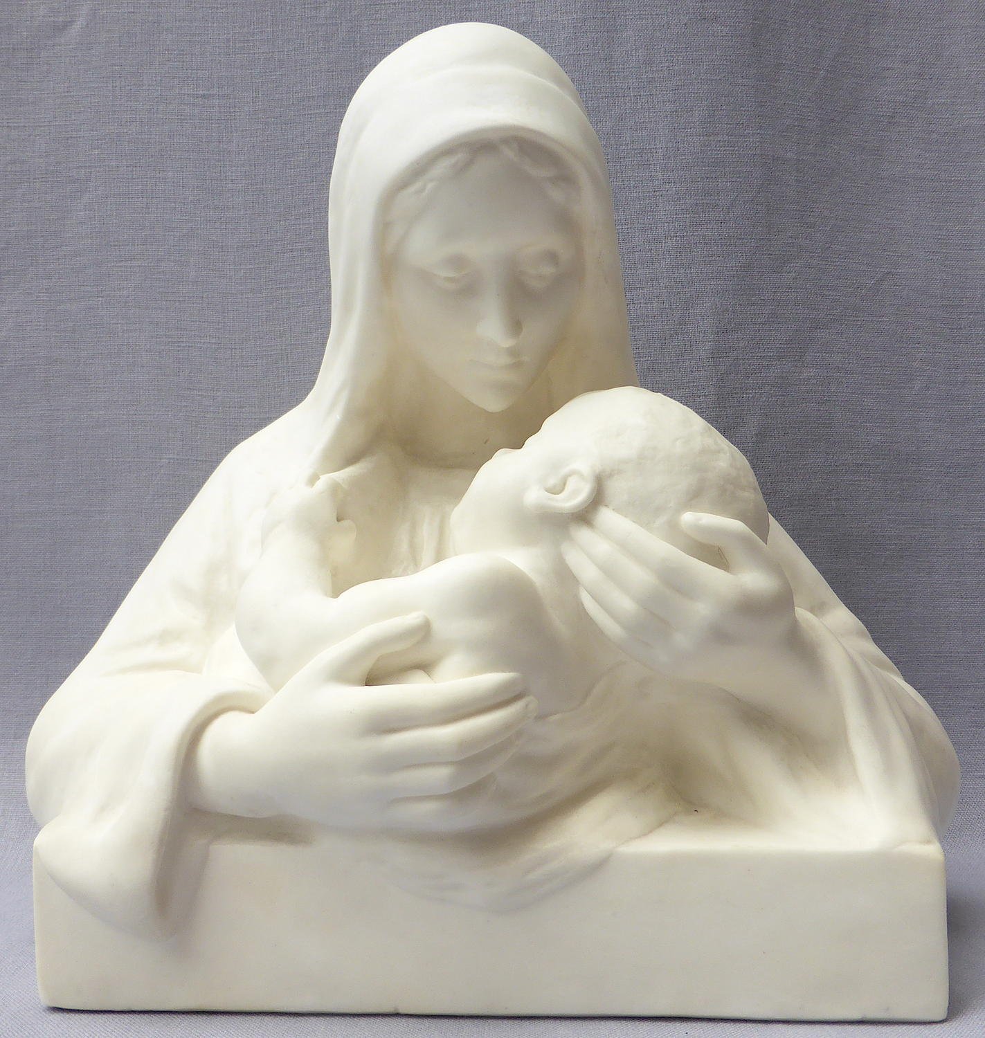 Sculpture of the Virgin & Child by Maria Caullet Nantard
