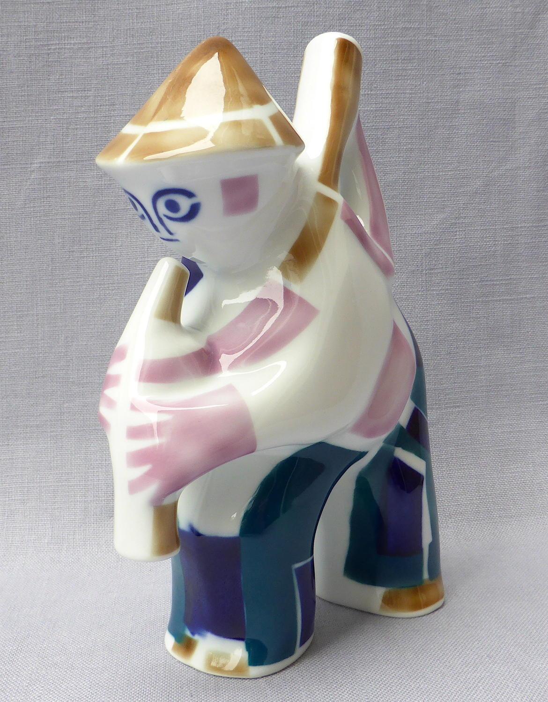 Spanish Sargadelos bagpiper figurine