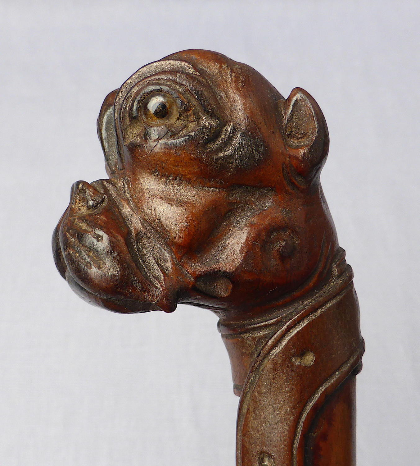 Late 19th century carved bulldog letter opener