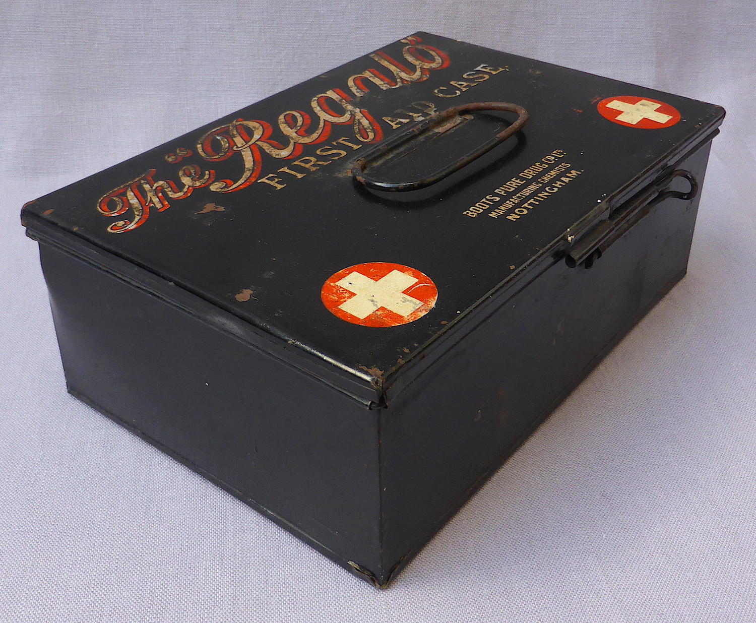 Early 20th century Boots Regalo first aid box