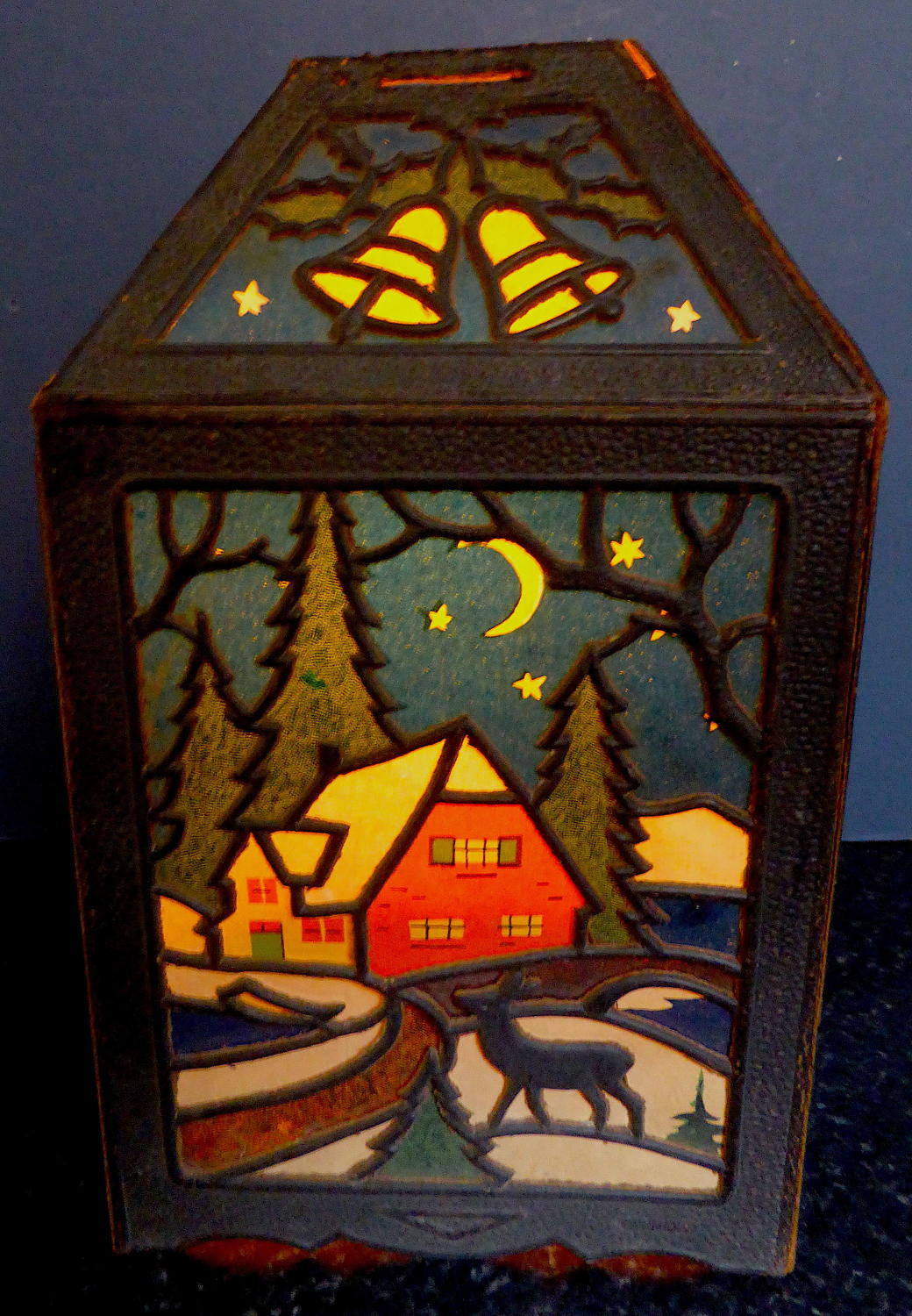 1920s Die-Cut Christmas Lantern Decoration