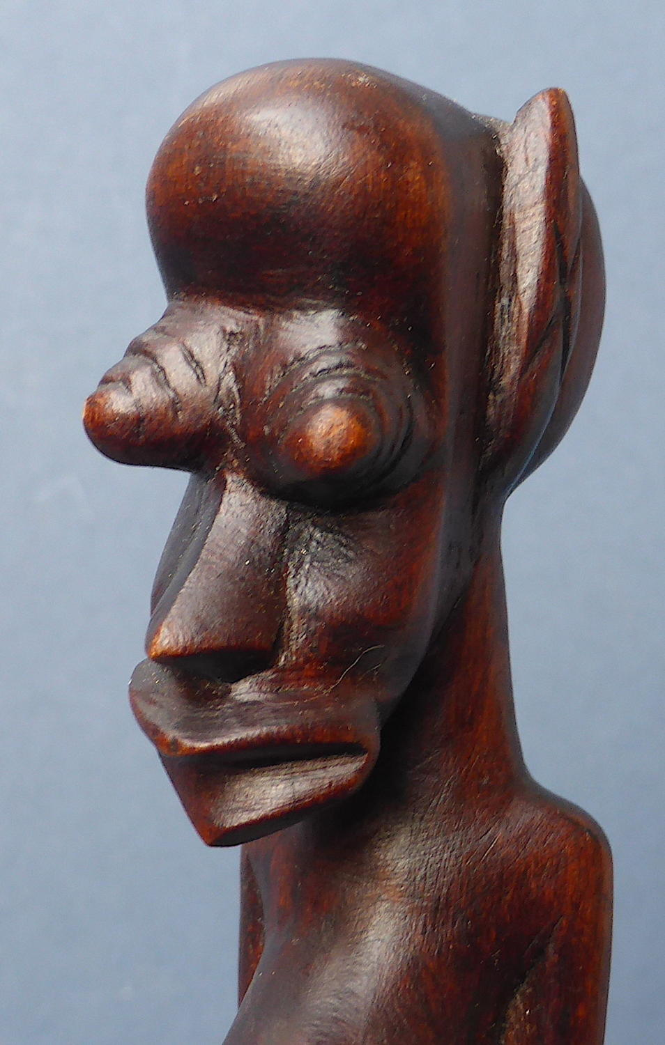 Mid 20th Century African Congolese Carved Tribal Figure