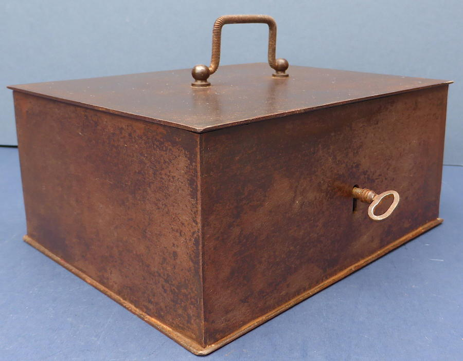 Early 20th Century Steel Strong Box