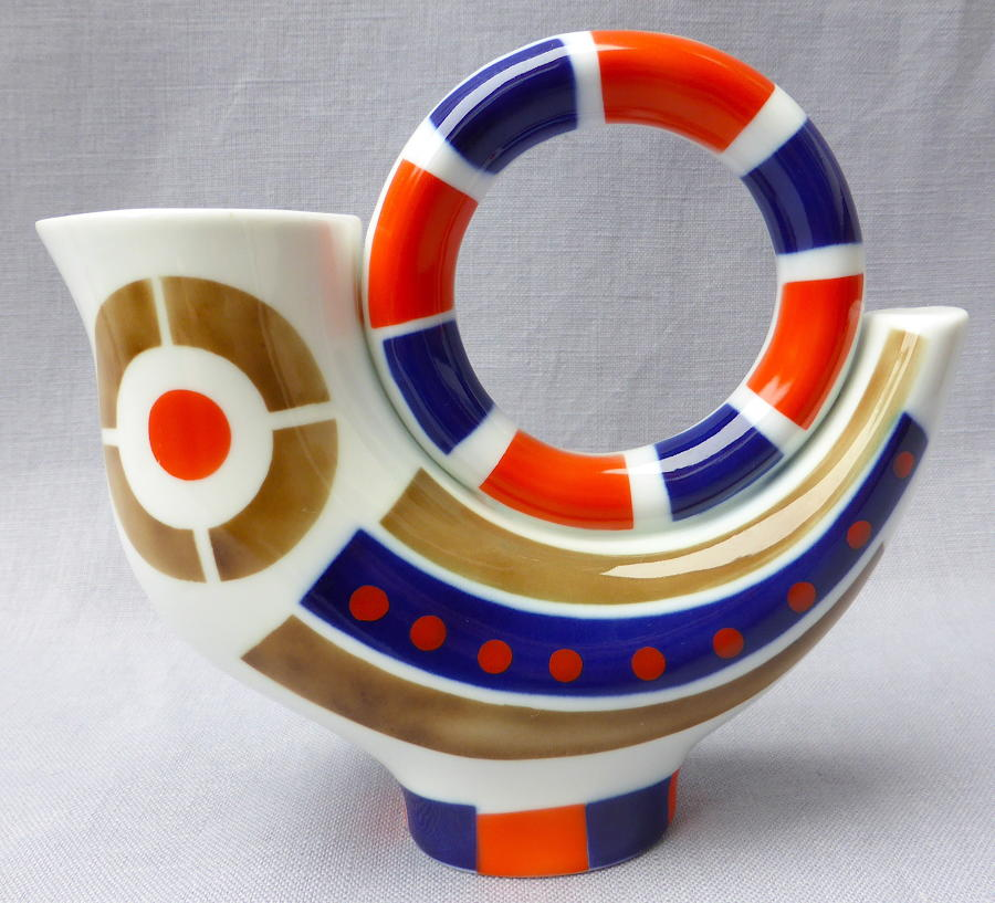 Spanish Sargadelos stylised Cock jug