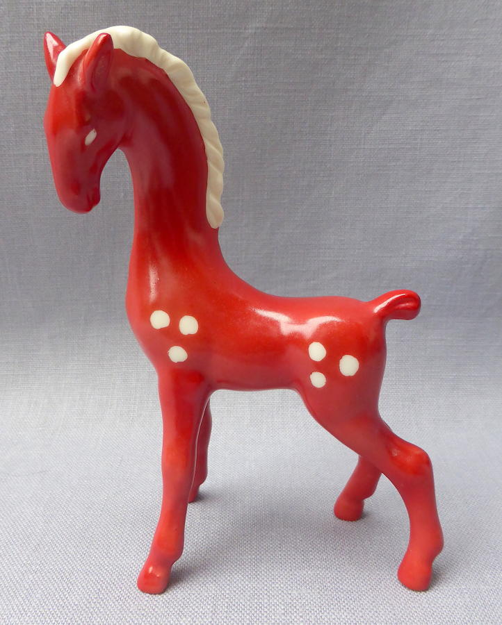 Rare 1950s Goebel red horse figurine
