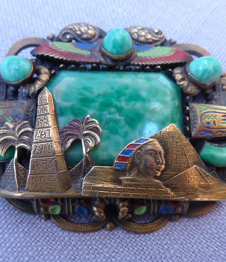 1920s Max Neiger Egyptian Revival brooch