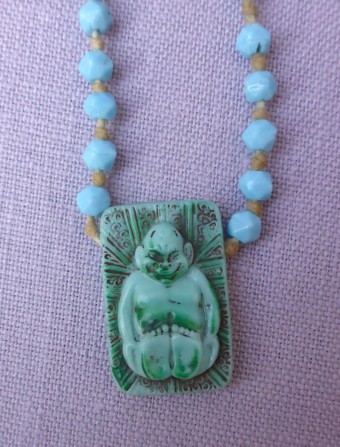 1920s Max Neiger Egyptian Revival Billiken necklace