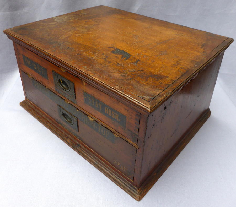 Late 19thC Stay Busk Haberdashery Cabinet