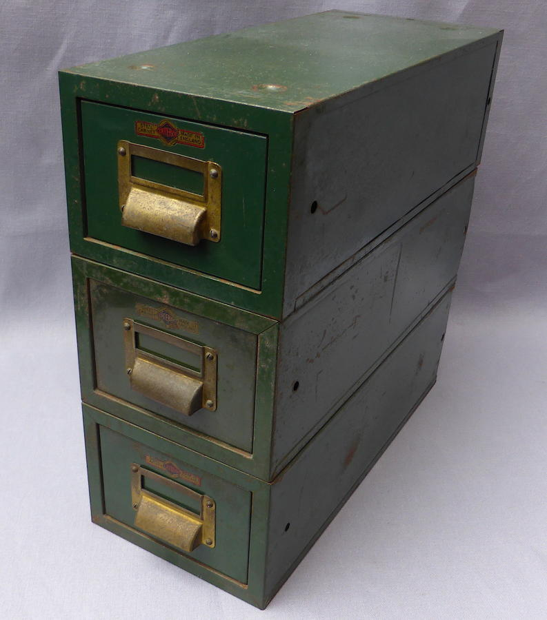 Set of 3 Criterion Industrial Steel Filing Drawers