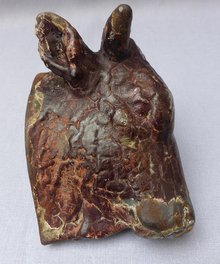 19th century butcher shop cast iron bull's head