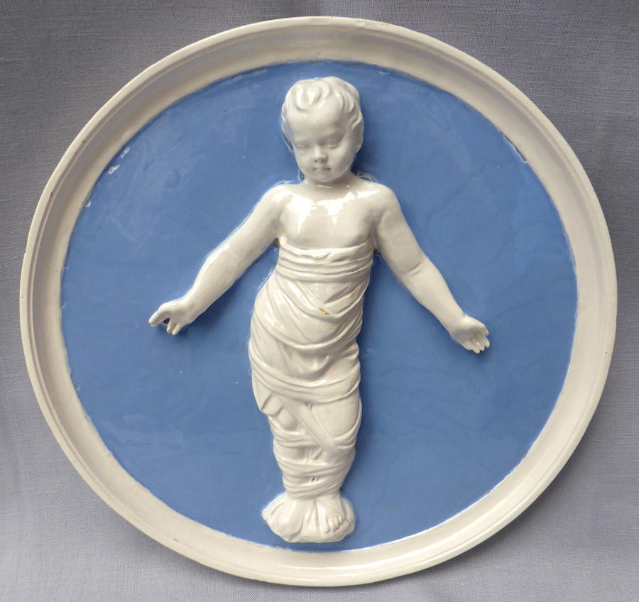 Large Della Robbia foundling wall plaque