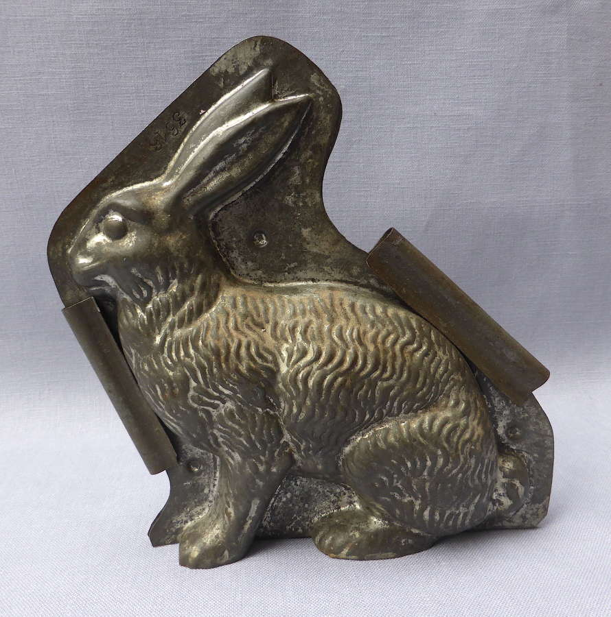 Antique Letang Fils Hare or Rabbit Chocolate Mould c1900