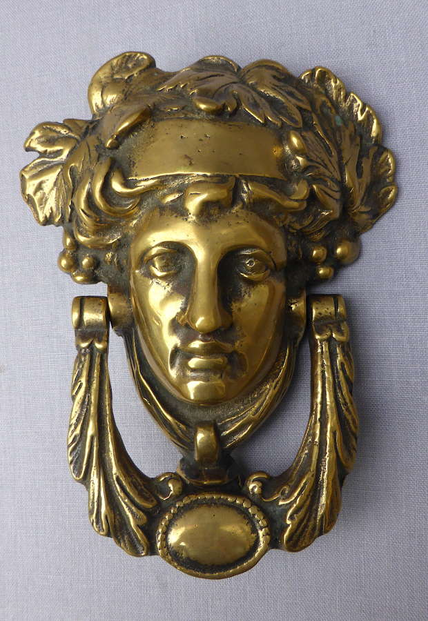 Early 20th Century Brass Athena Door Knocker