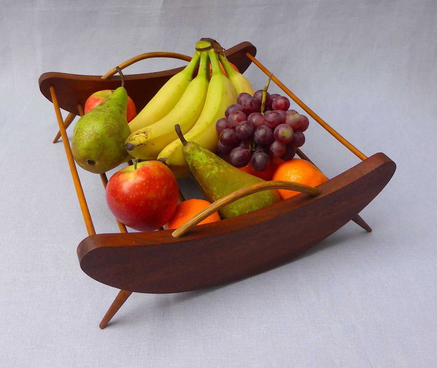 Mid 20th Century Danish Teak Fruit Basket