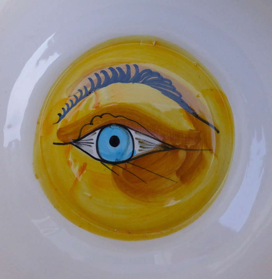 French Peeping Eye Wedding Chamber Pot Early 20thC