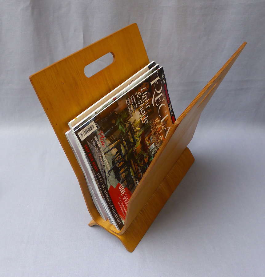 1960s Laminated Bentwood Magazine Rack