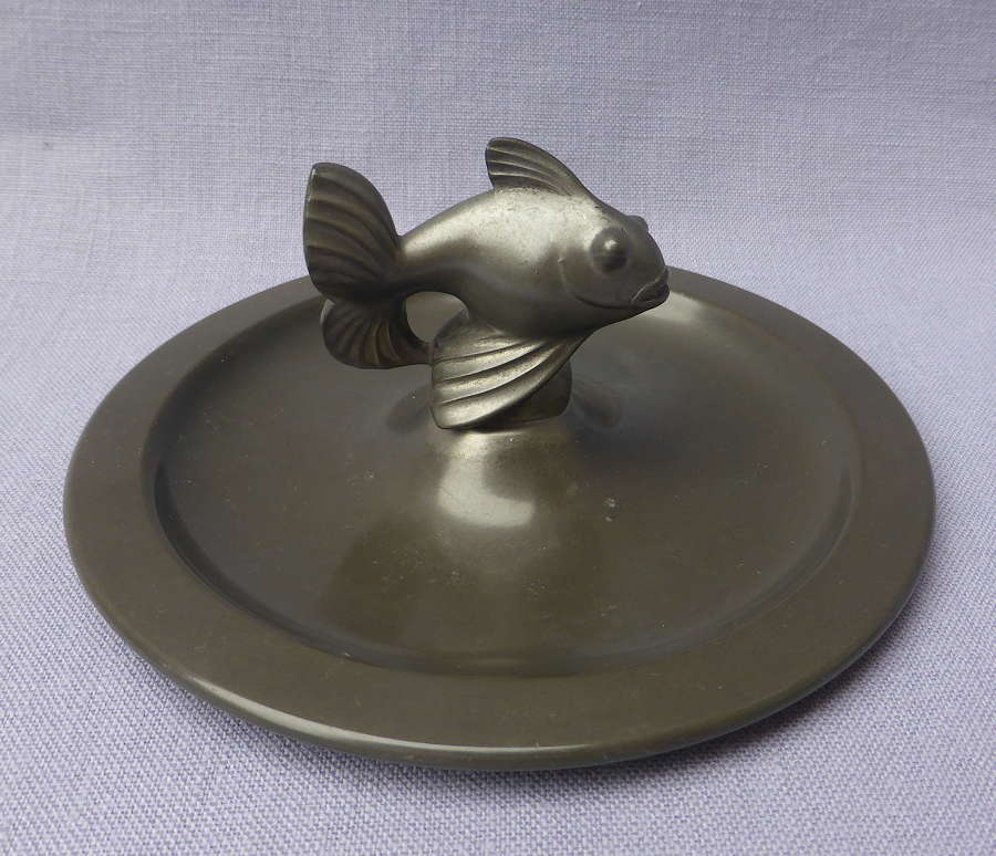 Just Andersen Danish Pewter Fish Dish 1930s