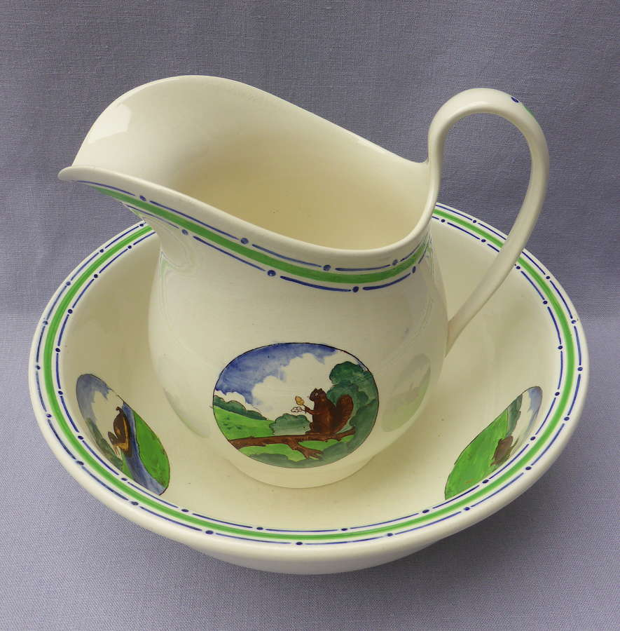 Rare Wedgwood Nursery Wash Jug & Bowl 1920s
