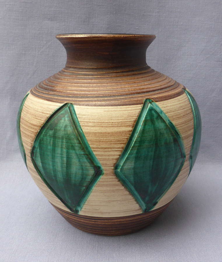 Stylish Large 1950s Stoneware Vase