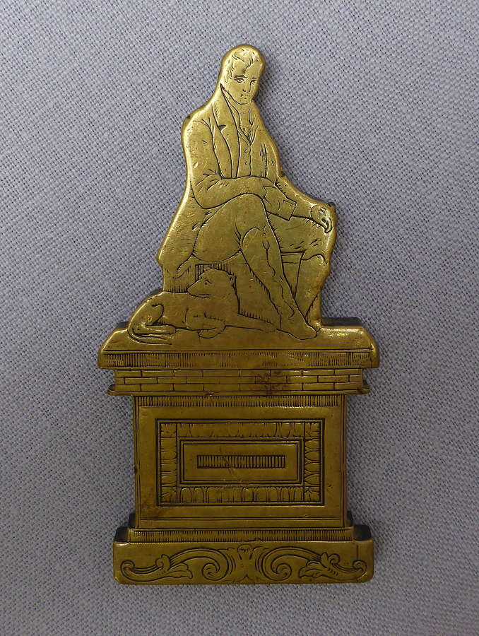 Unusual 19th Century Robert Burns Desk Weight