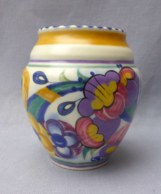 1930s Poole Pottery Fuchsia Vase