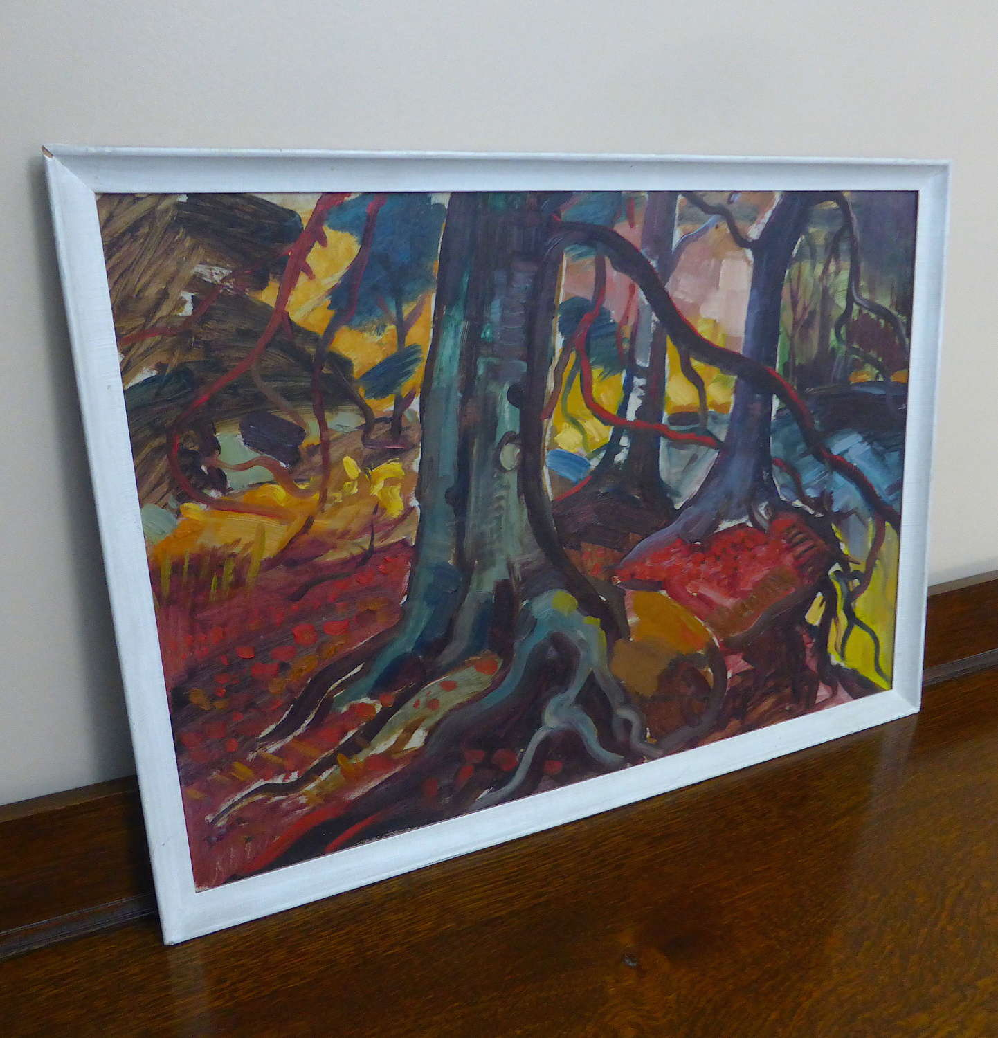 Signed Impressionist Painting by Donald Bosher 1950s