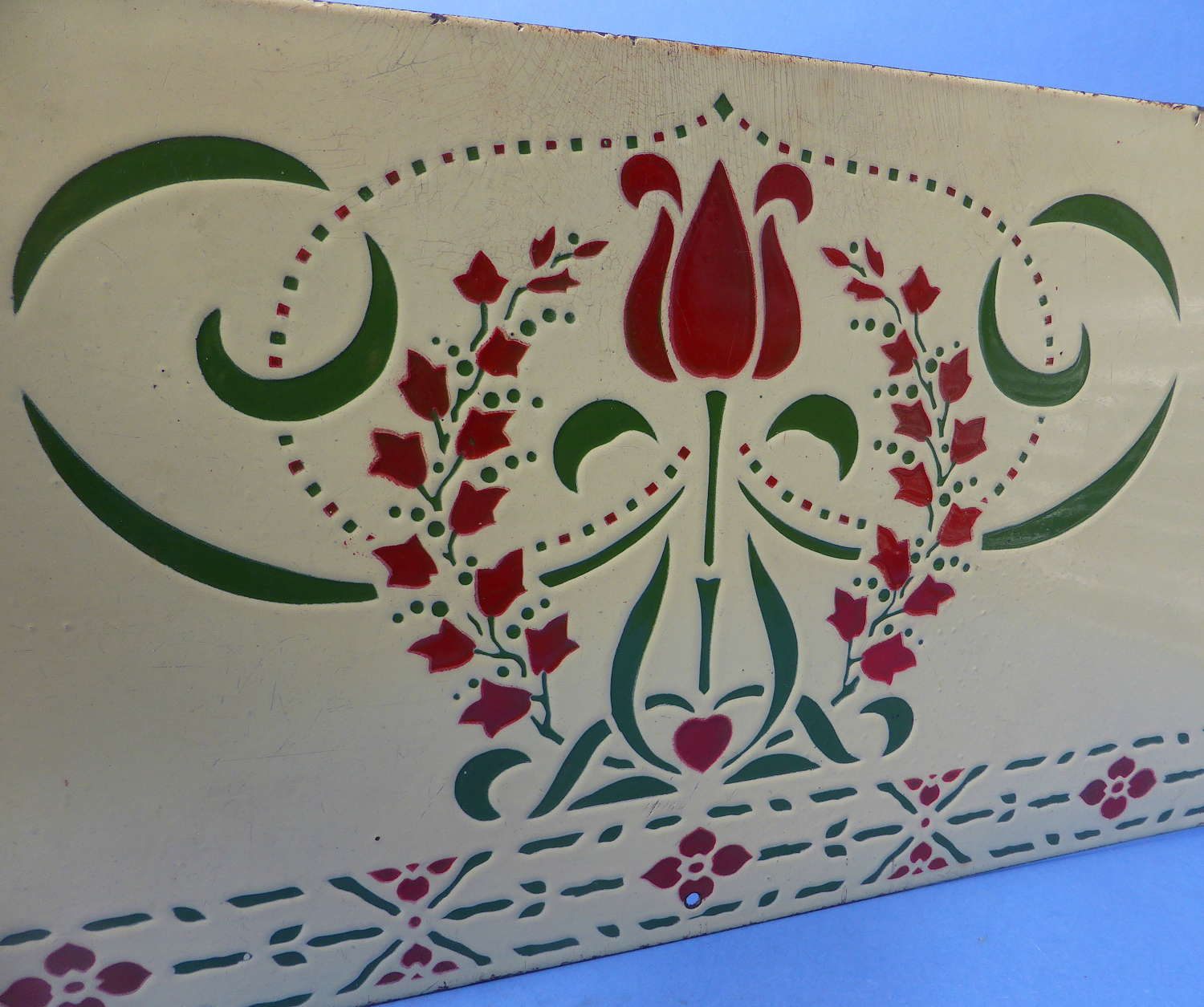 French Art Nouveau Enamel Splash Back Panel