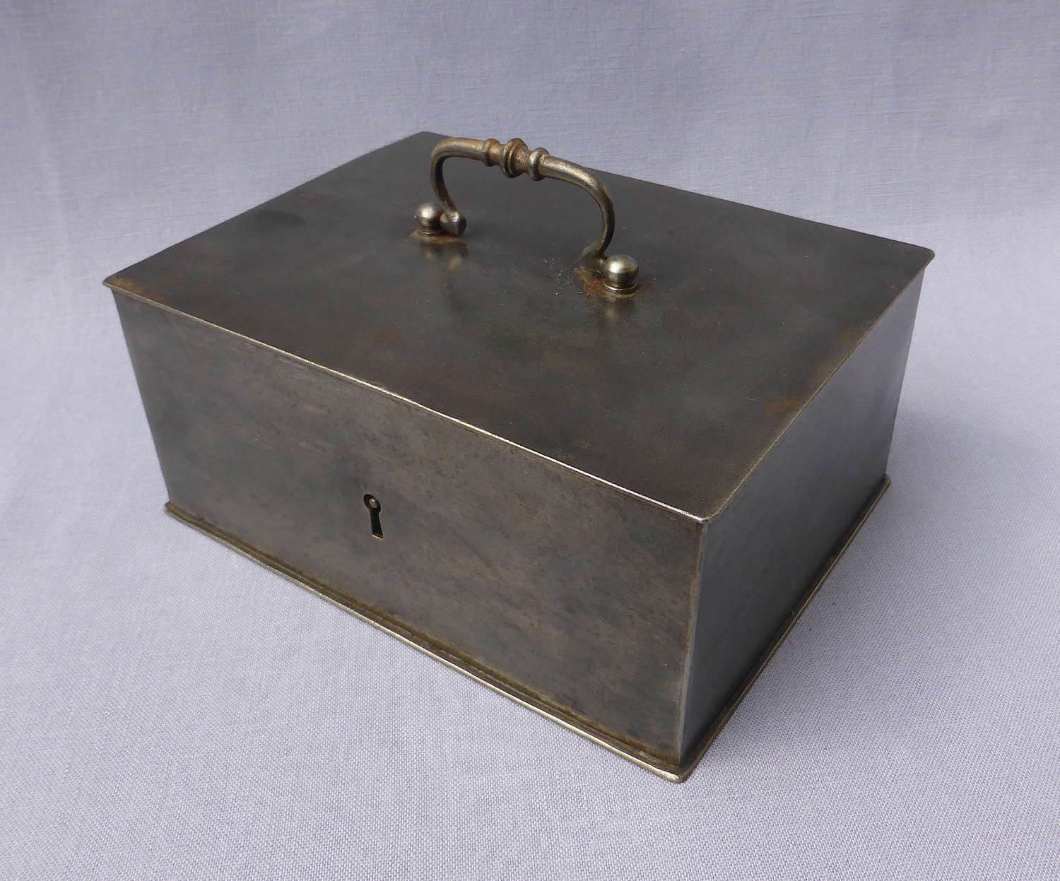 Early 20th Century French Steel Strong Box