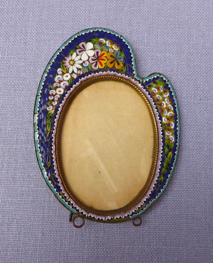 Late 19th century Italian micro mosaic frame