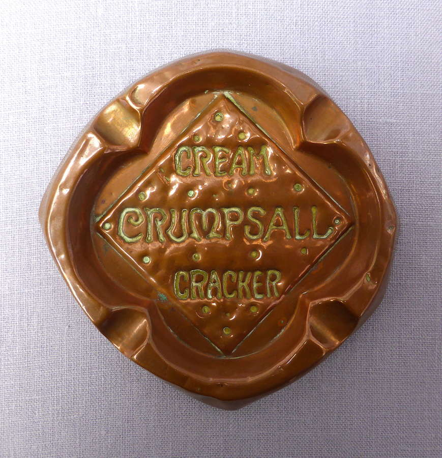 Copper Ashtray Advertising CWS Crumpsall Cream Crackers