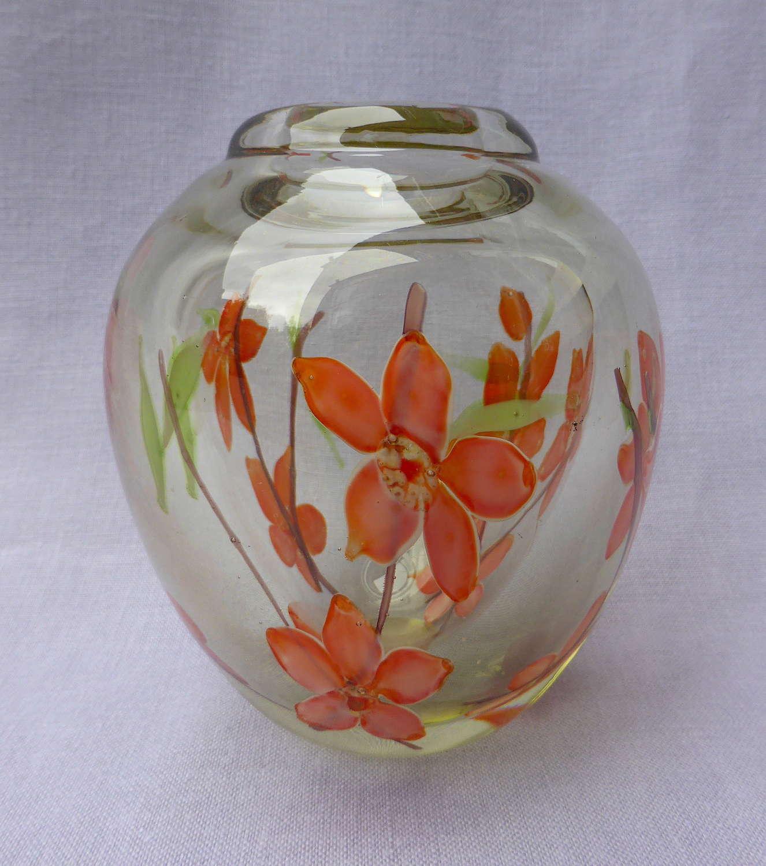 Mid 20th century cased glass vase
