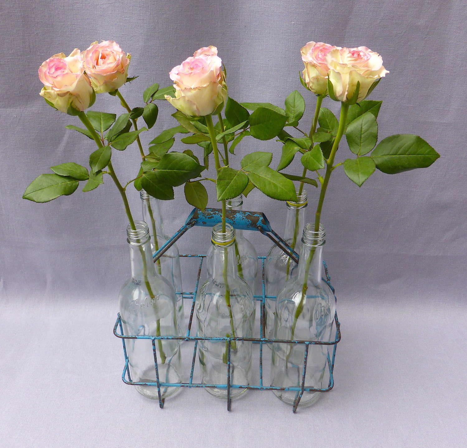 Vintage French Wire Bottle Carrier