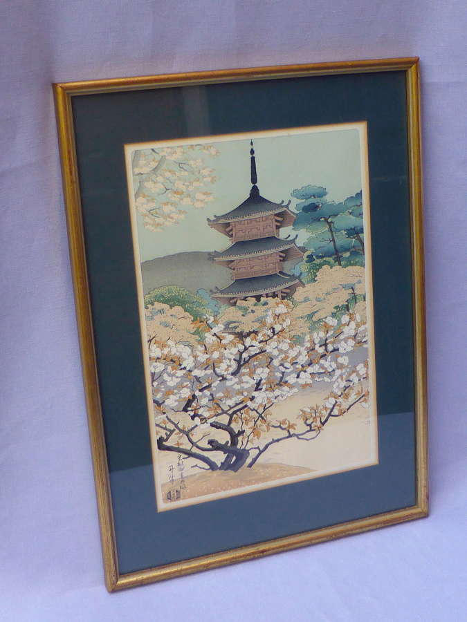 Framed Japanese Woodblock Print by Benji Asada