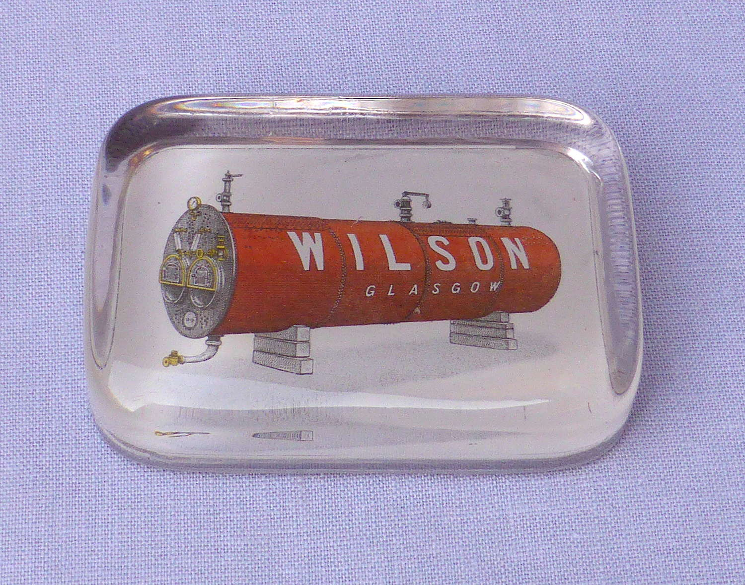 Interesting Wilson Boilermakers Paperweight 1920s
