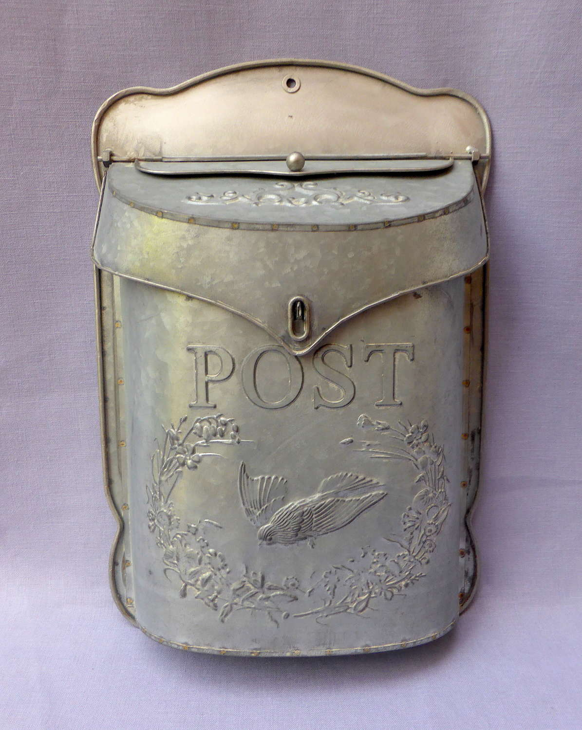 Attractive Galvanised Steel Post Box