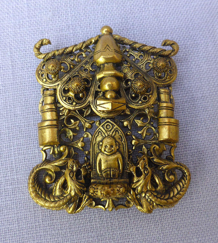 1930s Oriental Style Billiken Good Luck Brooch