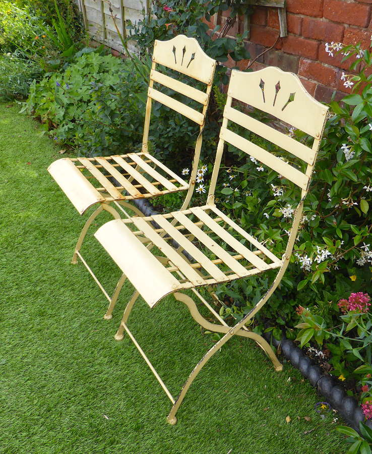 Pair of French Metal Bistro Chairs