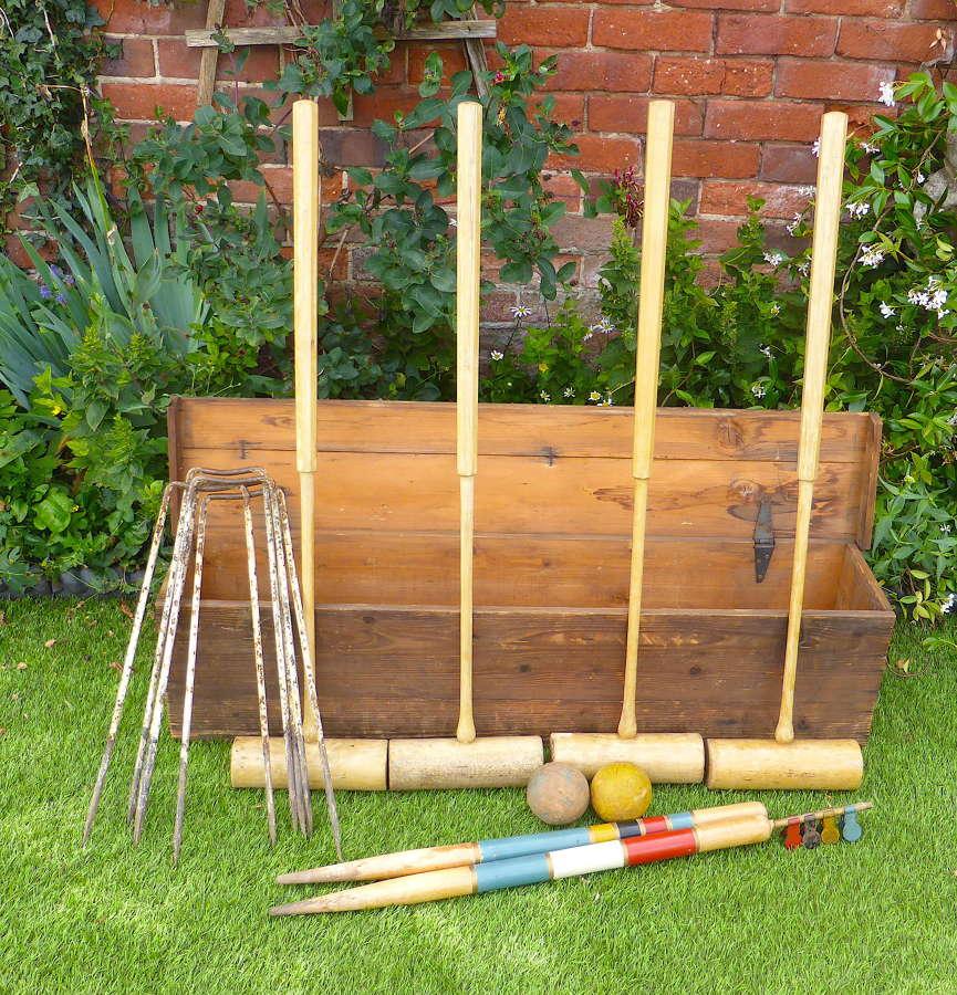Vintage Sykes Garden Croquet Set