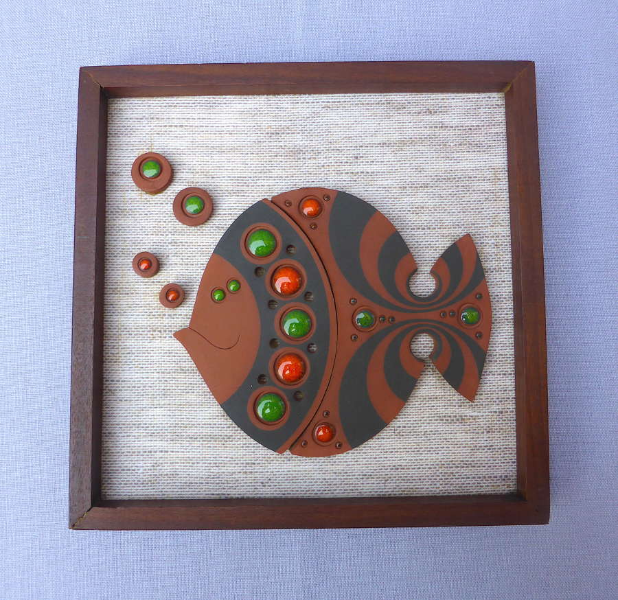 Hornsea Muramic Fish Wall Plaque